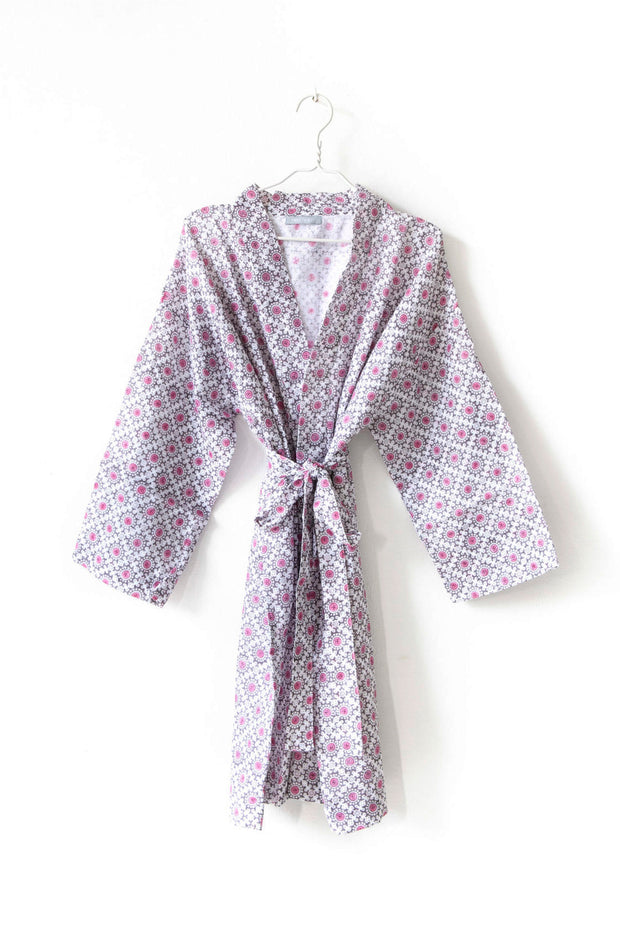 Nest Factory Block Print Robe Lilac
