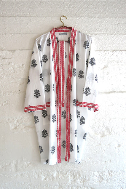 Nest Factory Block Print Robe Marigold