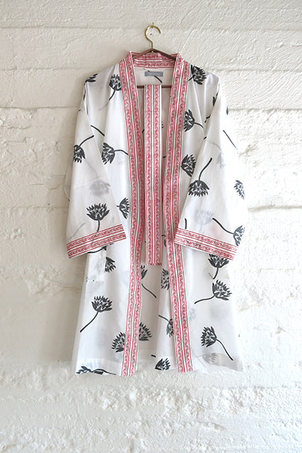 Nest Factory Block Print Robe Lotus - AUSTRALIA