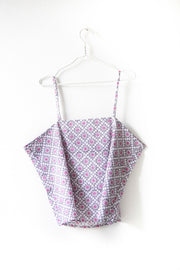 Nest Factory Block Print Halter Top Lilac