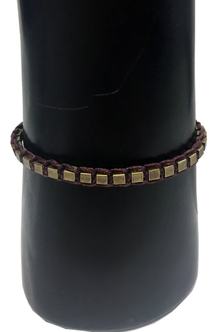 Mandy Campio Blocks Bracelet Wine