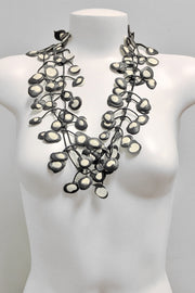 Annemieke Broenink Dubbel Pop Dot Necklace White