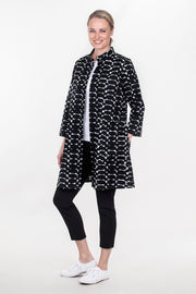 Ritva Falla Adele Jacket/Tunic Black/White