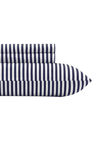 Marimekko Ajo US Sized Sheet Sets Navy/White
