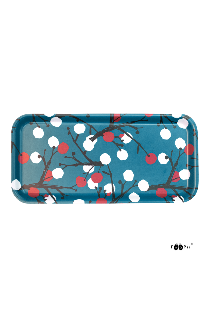 PaaPii Berry Tree Rectangular Tray Petrol
