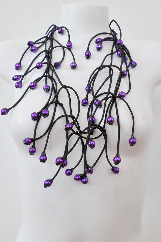 Annemieke Broenink Bianca Necklace Long Purple