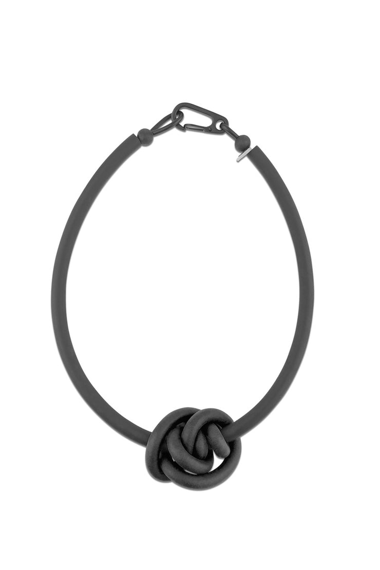Frank Ideas Knot Necklace Black