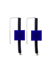 Frank Ideas Block Earrings Blue