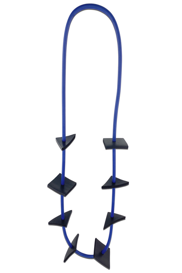 Frank Ideas Geometric Necklace Blue