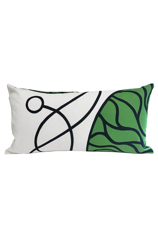 "Marimekko Bottna Custom 12x22"" Pillow Cover White/Green/Black"