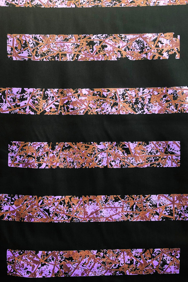 Marimekko Bysantti Fabric Black/Purple