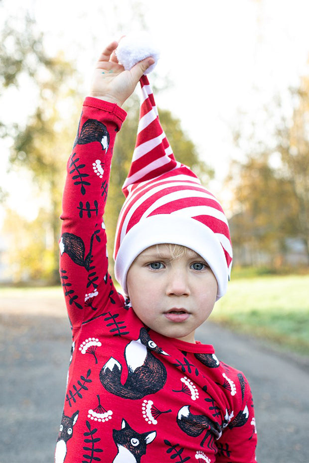 PaaPii Diagonal Stripe Kids' Christmas Hat