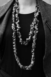 Frank Ideas Chaotic Necklace Wide Charcoal