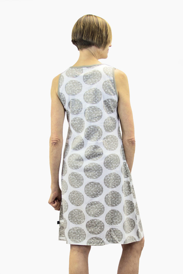 Ratia Circle Dress Grey/White