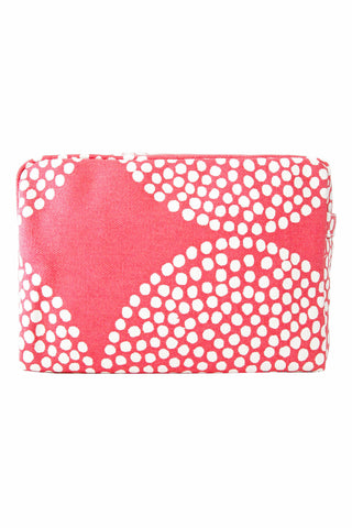 See Design Large Cosmetic Bag Big Wheels Salmon/White