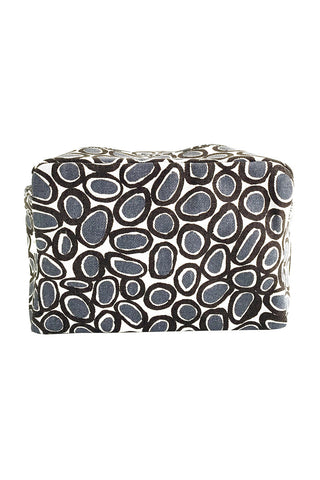 See Design Large Cosmetic Bag Gems Black/Grey