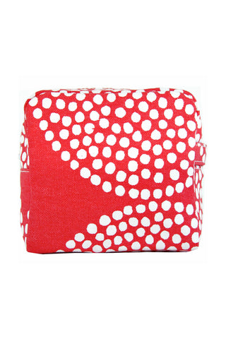 See Design Small Cosmetic Bag Big Wheels Red/White