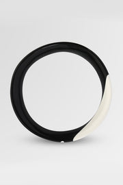 Dinosaur Designs Polished Resin Medium Bones Bangle Chalk Dot on Black