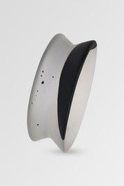 Dinosaur Designs Resin Small Bow Bangle Black Dot on Charcoal
