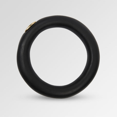 Dinosaur Designs Small Resin Round Rock Bangle Black