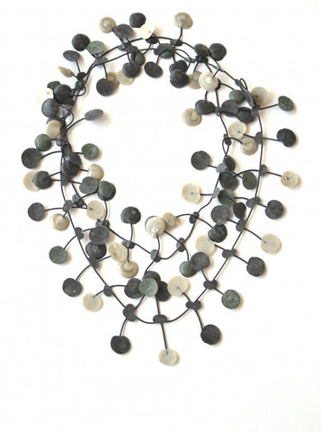Annemieke Broenink Pop Dot Necklace Forest Green/Neutral
