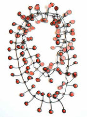 Annemieke Broenink Annemieke Broenink Dubbel Pop Dot Necklace Red - KIITOSlife - 3