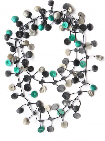 Annemieke Broenink Pop Dot Necklace Metallic Green/Neutral