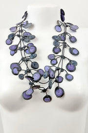 Annemieke Broenink Dubbel Pop Dot Necklace Purple Blue
