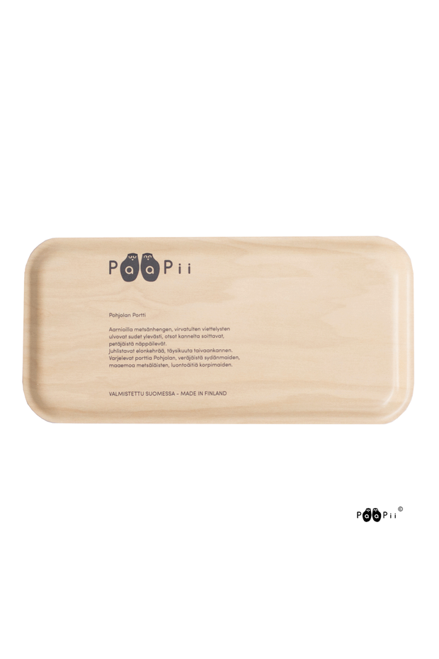 PaaPii Gates of Pohjola Rectangular Tray Black/White