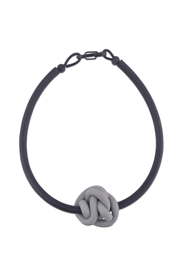 Frank Ideas Knot Necklace Grey