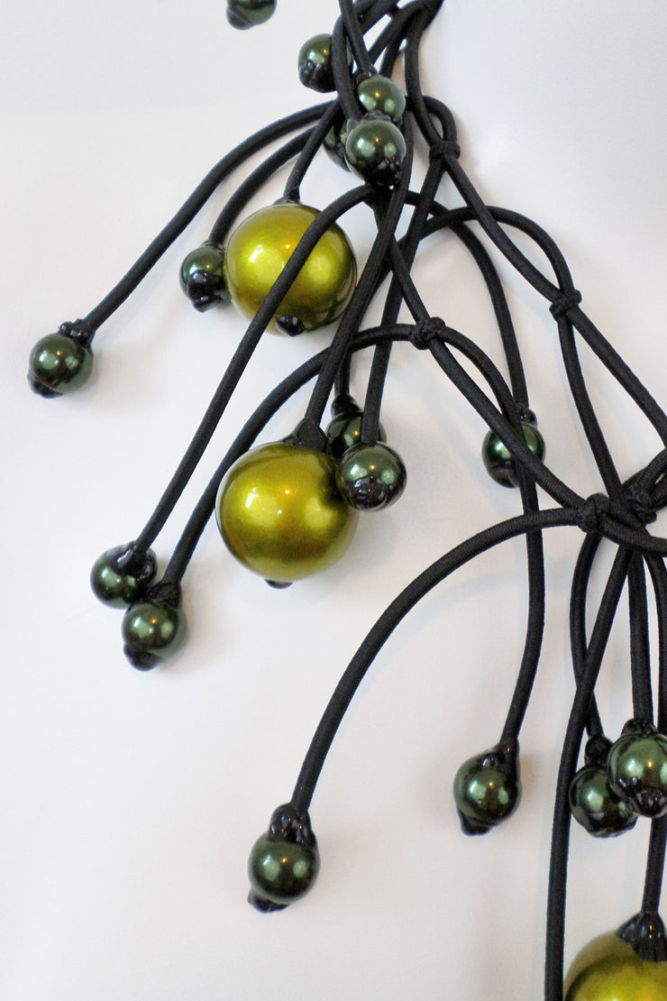 Annemieke Broenink Gigantic Pearl Necklace Acid Green