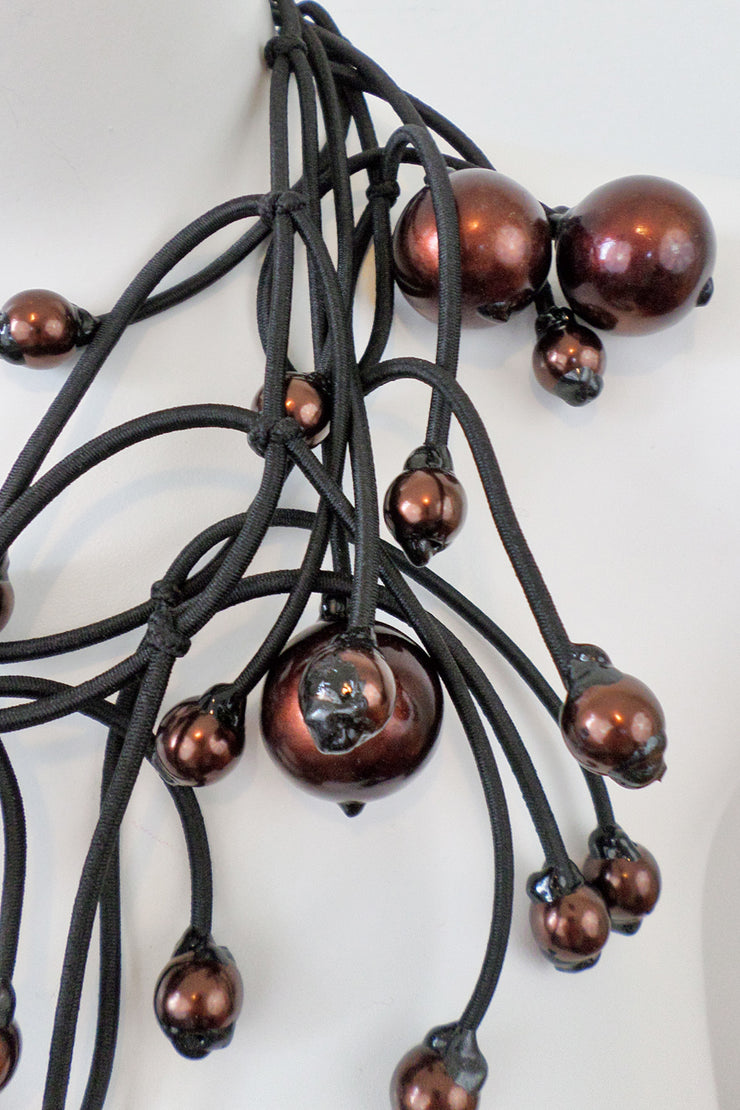 Annemieke Broenink Gigantic Pearl Necklace Rustic Brown