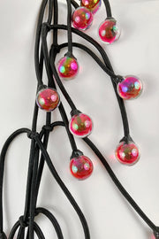 Annemieke Broenink Glass Bead Necklace Pink Iridescent