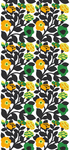 Marimekko  Green Green Wall Mural Green/Black/Orange/White