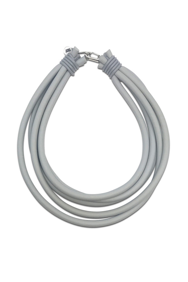 Frank Ideas Five Strand Necklace Grey