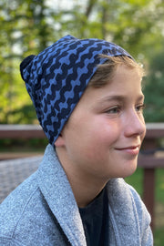 PaaPii Haloo Pom Pom Beanie Blueberry for Adults & Kids