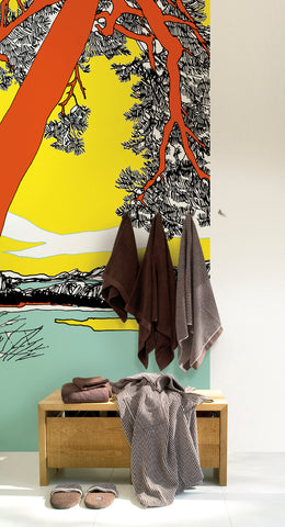 Marimekko  Ho-Hoi! Wall Mural Yellow/Orange/Black/White