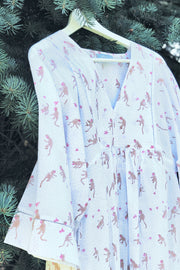 Nest Factory Lounging Mini Dress Monkey Print