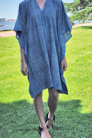 Nest Factory Kaftan w/Pockets Blue Zig Zag
