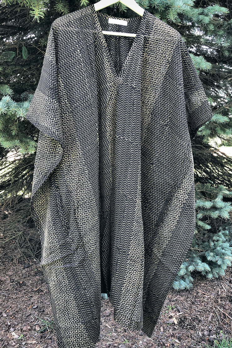 Nest Factory Kaftan w/Pockets Black Zig Zag