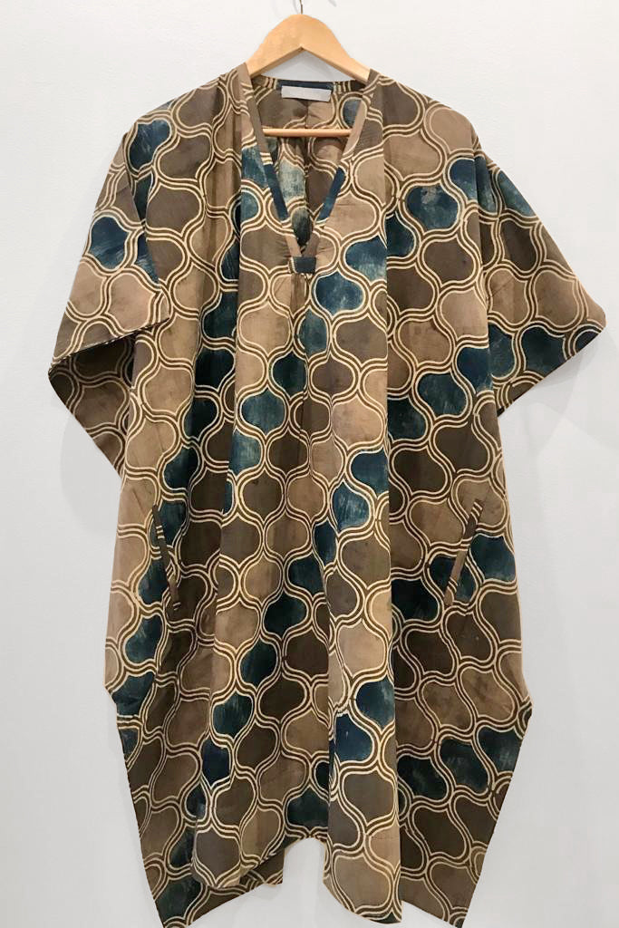 Nest Factory Kaftan w/Pockets Brown/Blue
