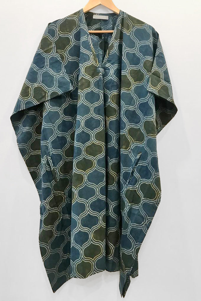 Nest Factory Kaftan w/Pockets Blue/Green