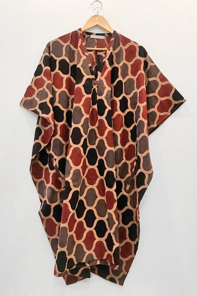 Nest Factory Kaftan w/Pockets Red/Black