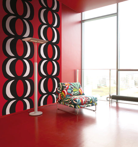 Marimekko  Kaivo Wall Mural Red/Black/White