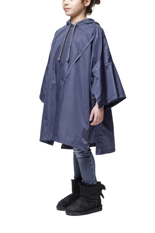 Daily Day Kids' Rain Poncho Deep Blue