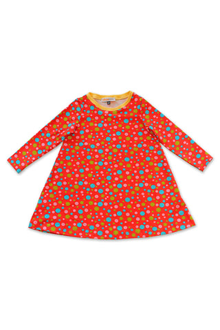 KiitosKids Polka Dot Kids Dress Red/Blue