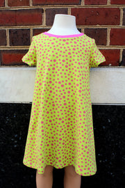 KIITOSlife KiitosKids Polka Dot Kids Dress Lime/Fuschia - KIITOSlife - 3