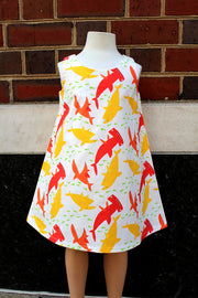 KIITOSlife KiitosKids Shark Kids Dress White/Red/Yellow - KIITOSlife - 4