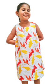 KIITOSlife KiitosKids Shark Kids Dress White/Red/Yellow - KIITOSlife - 2