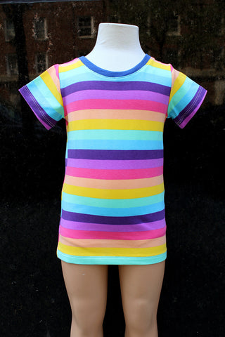 KiitosKids Spring Stripe Kids Short Sleeved T-Shirt